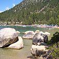 A day at the beach at Lake Tahoe