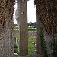 Ancient Ruins - Looking through window at Crucifix
