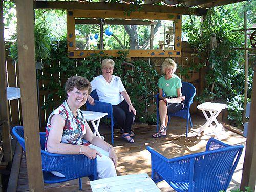 Women sitting on the Zen Deck