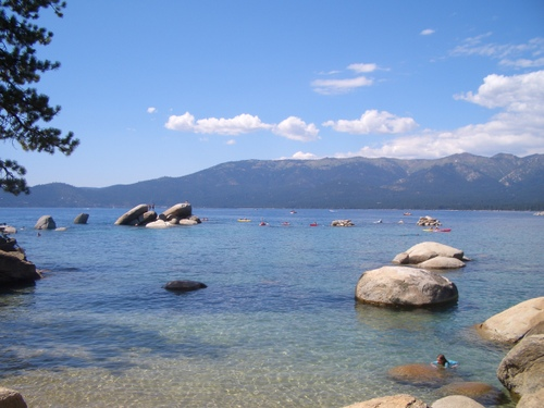 I swam out to the big rocks on The Big Water